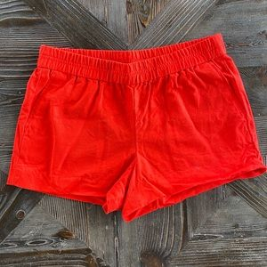 J. Crew size 10 red shorts